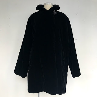 Giorgio Armani Black Velvet Coat