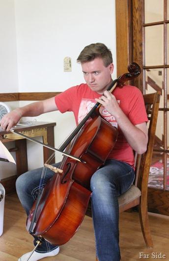 Attacking the cello