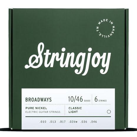 Stringjoy Broadways (10-46) Pure Nickel Electric Guitar