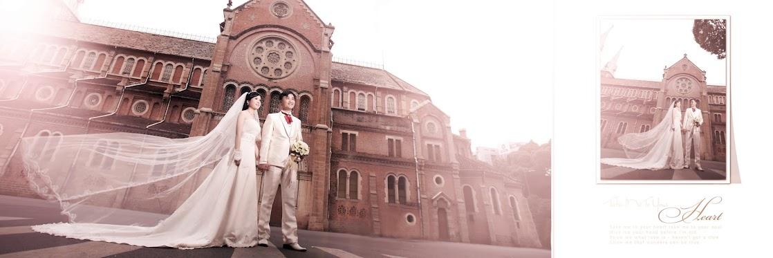 Album cưới chụp tại nhà thờ Đức Bà TP.HCM