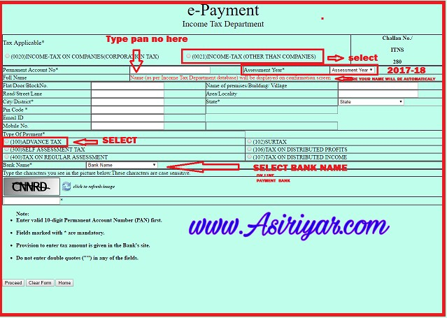 Income Tax Forms: Income Tax Forms Challan 280