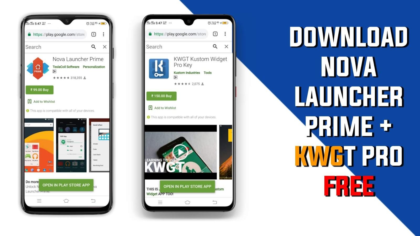 Download Nova Launcher Prime Apk Free Download Kwgt Kustom Widget Pro Key Apk Free