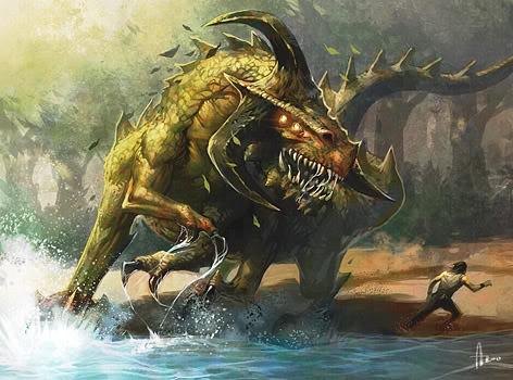 Dinosaur Demon By Njoo, Dragons