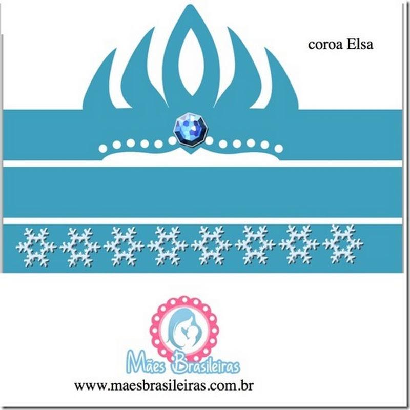 Corona Elsa de Frozen para imprimir