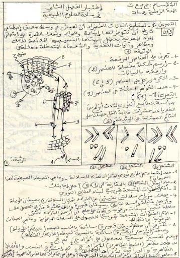 الاختبار الثاني في العلوم الطبيعية للسنة الاولى ثانوي علمي - نموذج 1 - 1.jpg