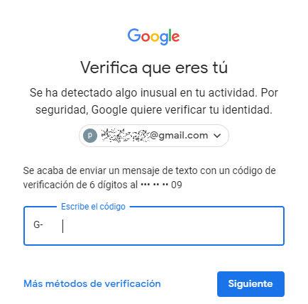 Seguridad en google