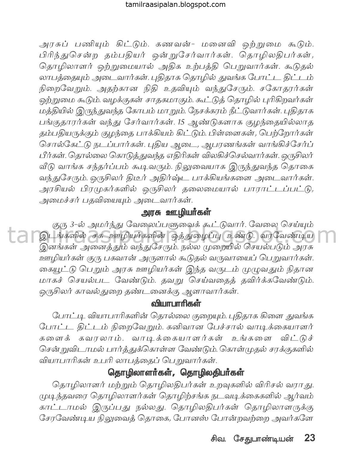 Mithunam Guru Peyarchi Palan-2015-2016 Free Online