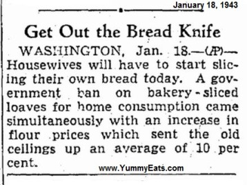 sliced bread ban-1943