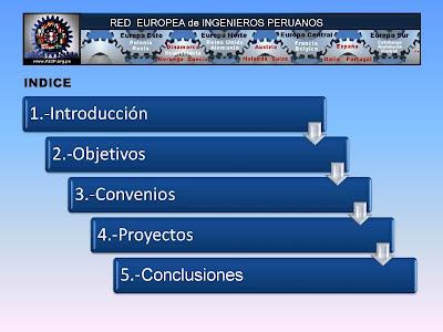 Ingenieros Peruanos en Europa. OBJETIVOS