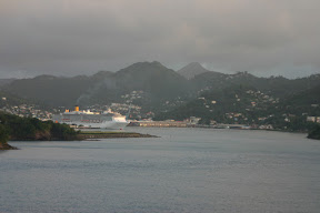 Costa Atlantica about to sail from St. Lucia
