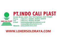Lowongan Kerja Karanganyar Agustus 2021 di PT Indo Cali Plast