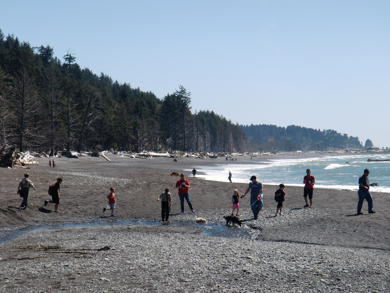 Crossing Ellen Creek at low tide