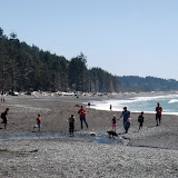 Crossing Ellen Creek at low tide