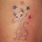 stars red green blue yellow - tattoos ideas