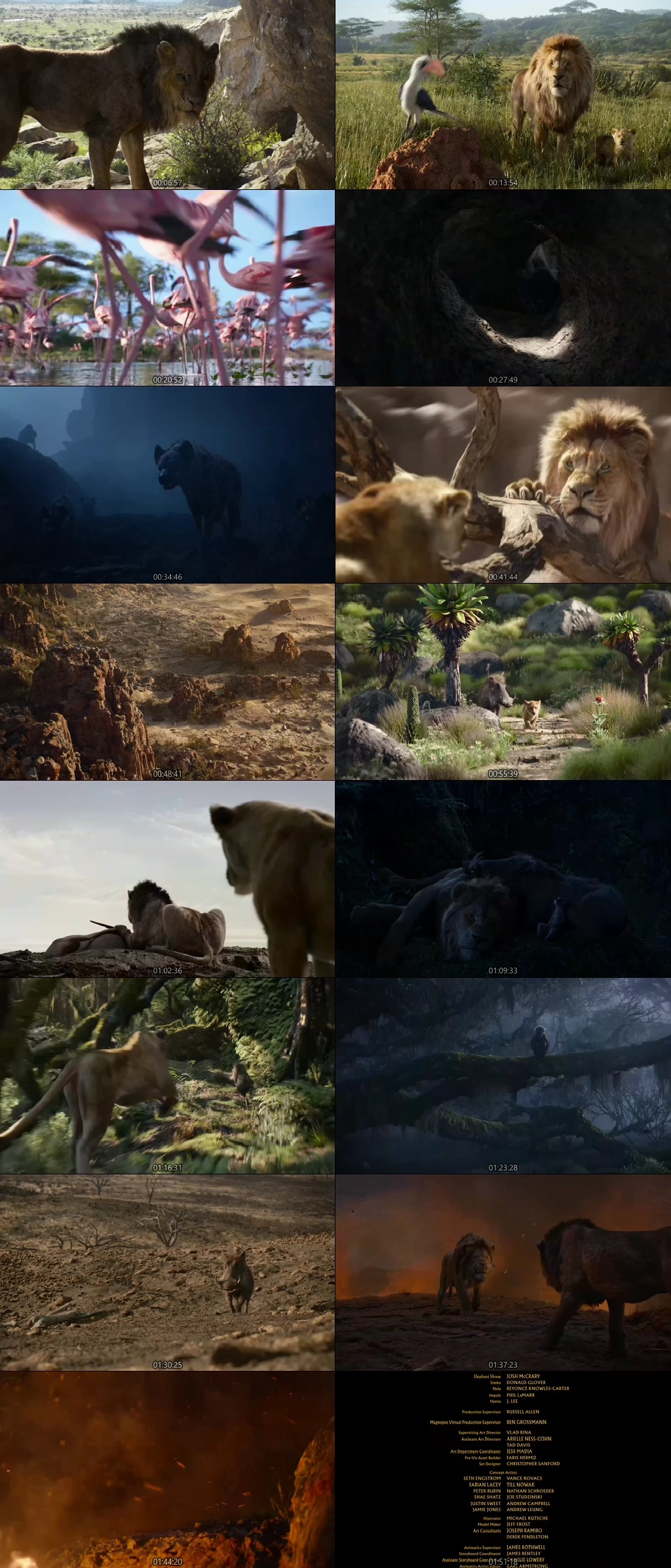 Screen Shot Of The Lion King 2019 300MB Full Movie Hindi Dubbed Free Download 720P BRRip HEVC