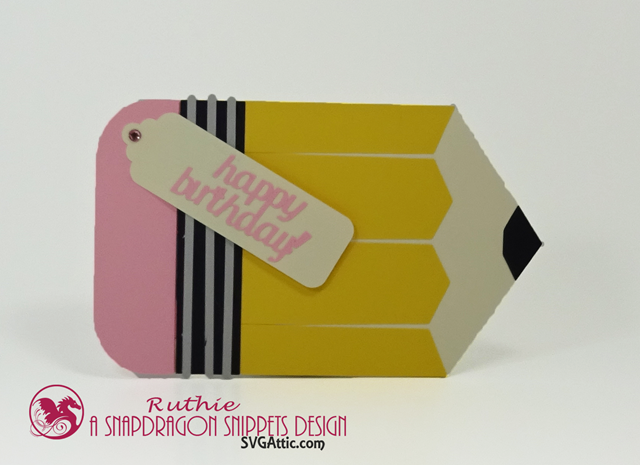 Pencil Hidden Gift Card, SnapDragon Snippets, Ruthie Lopez