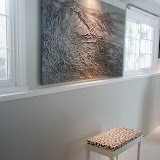 Nest in artist's studio.