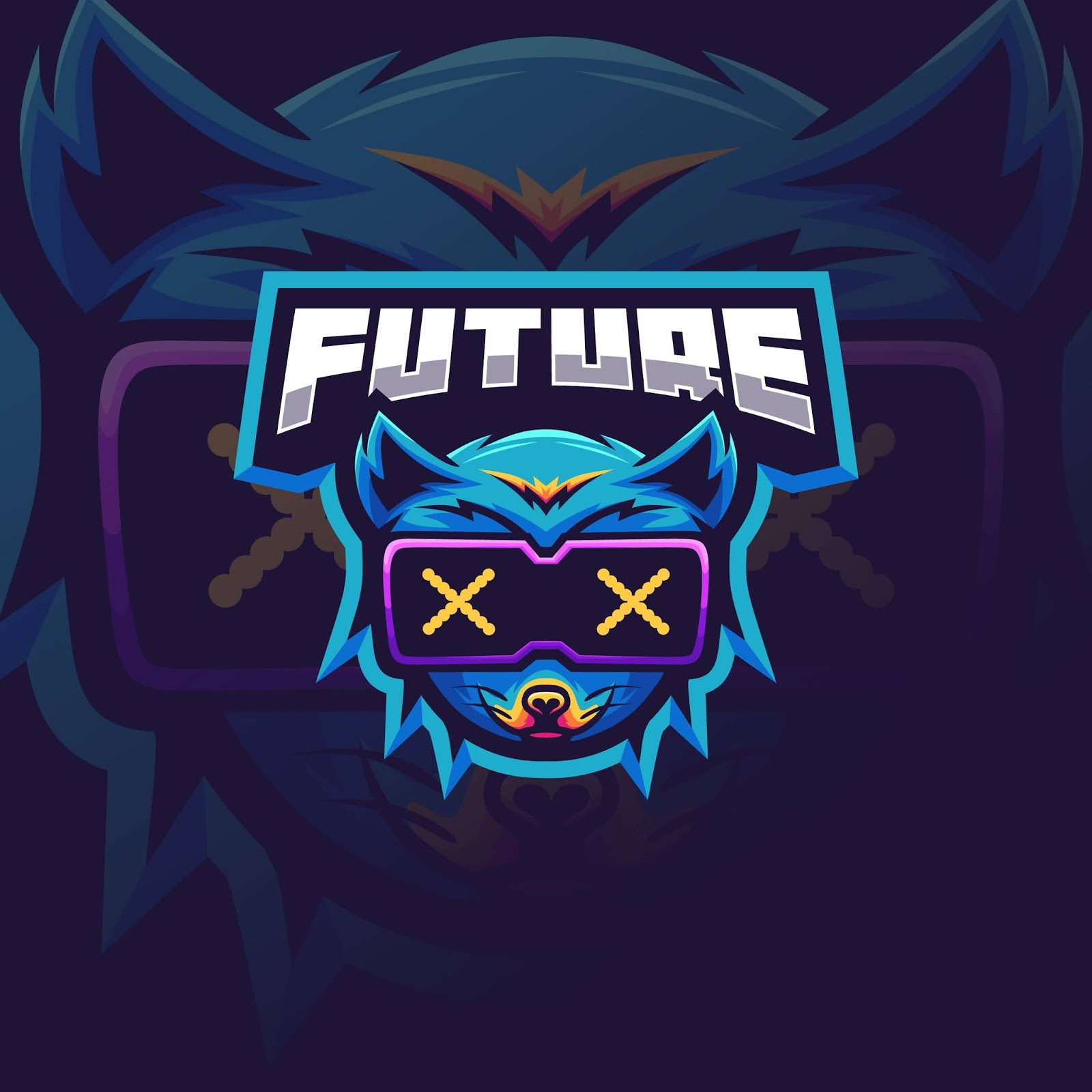 Futuristic Fox Logo Esport Free Download Vector CDR, AI, EPS and PNG Formats