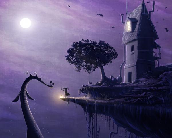 Mysterious Landscape Of Dream, Fantasy Scenes 2