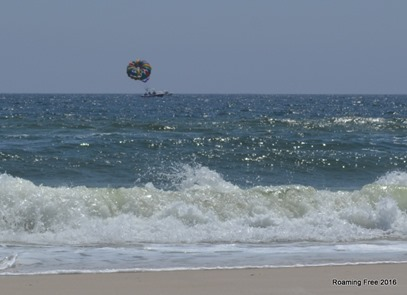 Parasailer getting ready to go up