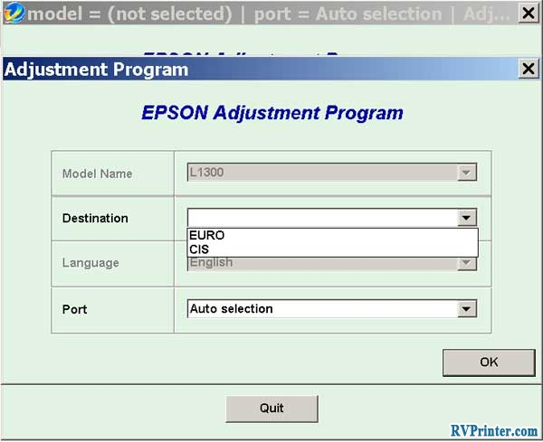 Epson L1800 with User-Friendly Adjustment Program