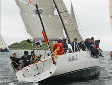 J/133 offshore cruising sailboat- sailing off Halifax