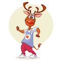Cartoon Funny Deer Illustration Free Download Vector CDR, AI, EPS and PNG Formats