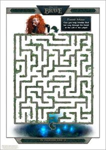 Disney/Pixar's Printable BRAVE Forest Maze