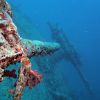 Guns at the stern of the Thistlegorm