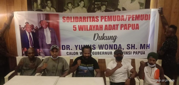 Gubernur Papua LE Tunjuk Yunus Wonda Jadi Wagub, Solidaritas Pemuda 5 Wilayah Adat: Kami Dukung Penuh