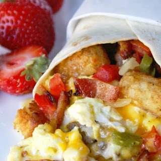 Loaded Breakfast Burrito.
