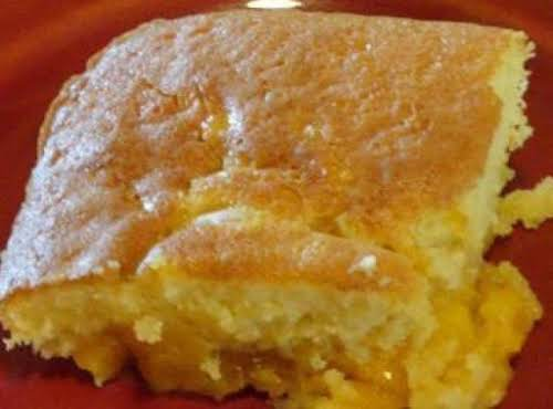 "Gooey Peach Cake ""Made this last night using fresh peaches I had..."