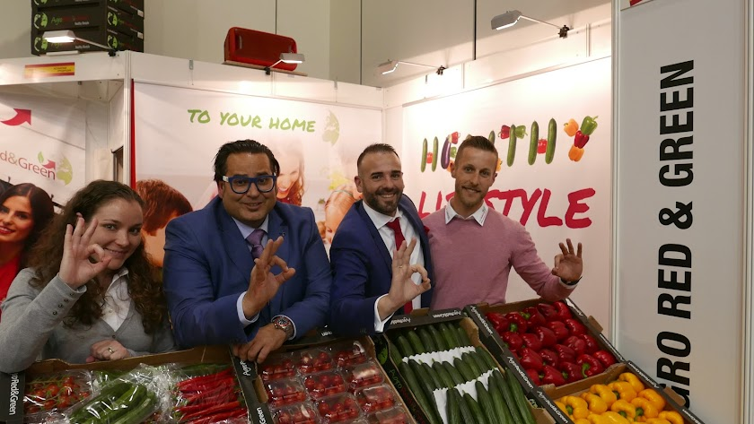 El equipo de Agro Red&Green en la feria Fruit Logistica.