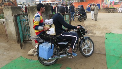 Polio leaves on bike