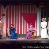Jeff Nuding, Cristine Henry Sendra, Pat Timm, Sara L. Melita and David Finkle in THE IMPORTANCE OF BEING EARNEST (R) - December 1989.  Property of The Schenectady Civic Players Theater Archive.