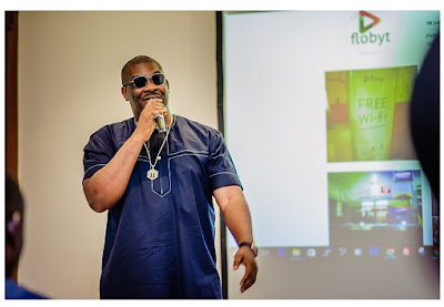 Don Jazzy and Tsaboin CEO, Dele Odufuye, launch Flobyt to offer free WiFi in Lagos State  25255BUNSET 25255D