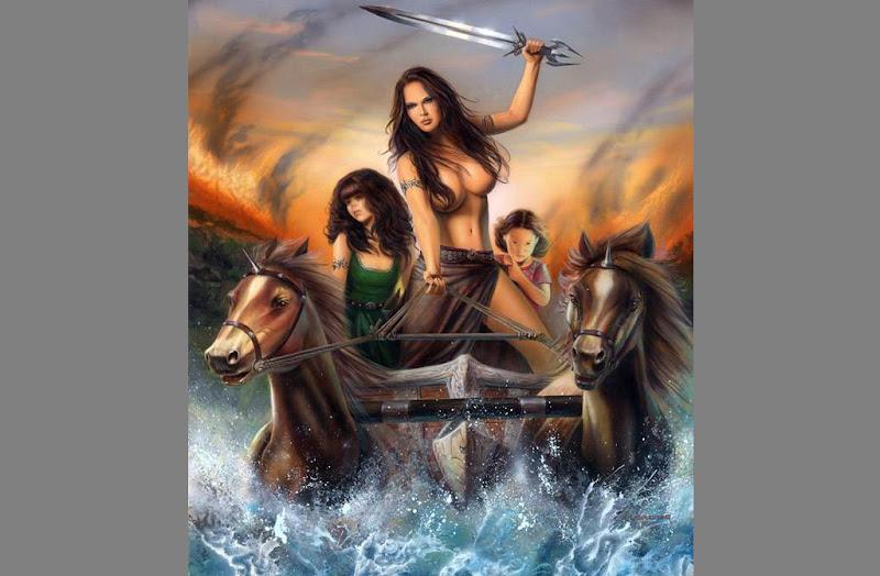 Amazon Women On The Chariot, Warriors 2