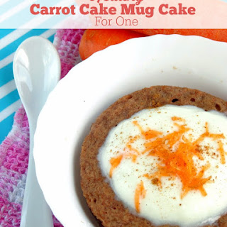Healthy Single-Serving Carrot Cake Mug Cake for One