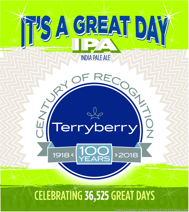 New Holland - It's A Great Day IPA (Brewed for Terryberry)