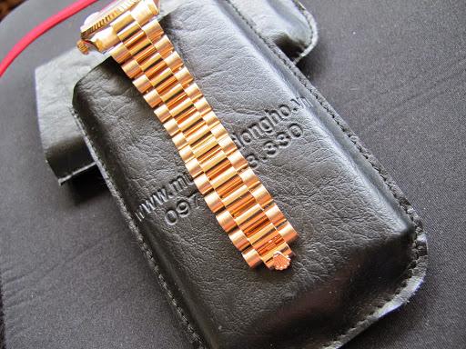 Bán đồng hồ rolex day date 6 số 118235 – vàng hồng 18k – mặt hạt xoàn – size 36mm