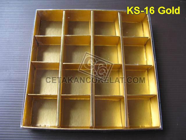 Casing Kotak 16 Gold KS-16 cokelat coklat mika kemasan