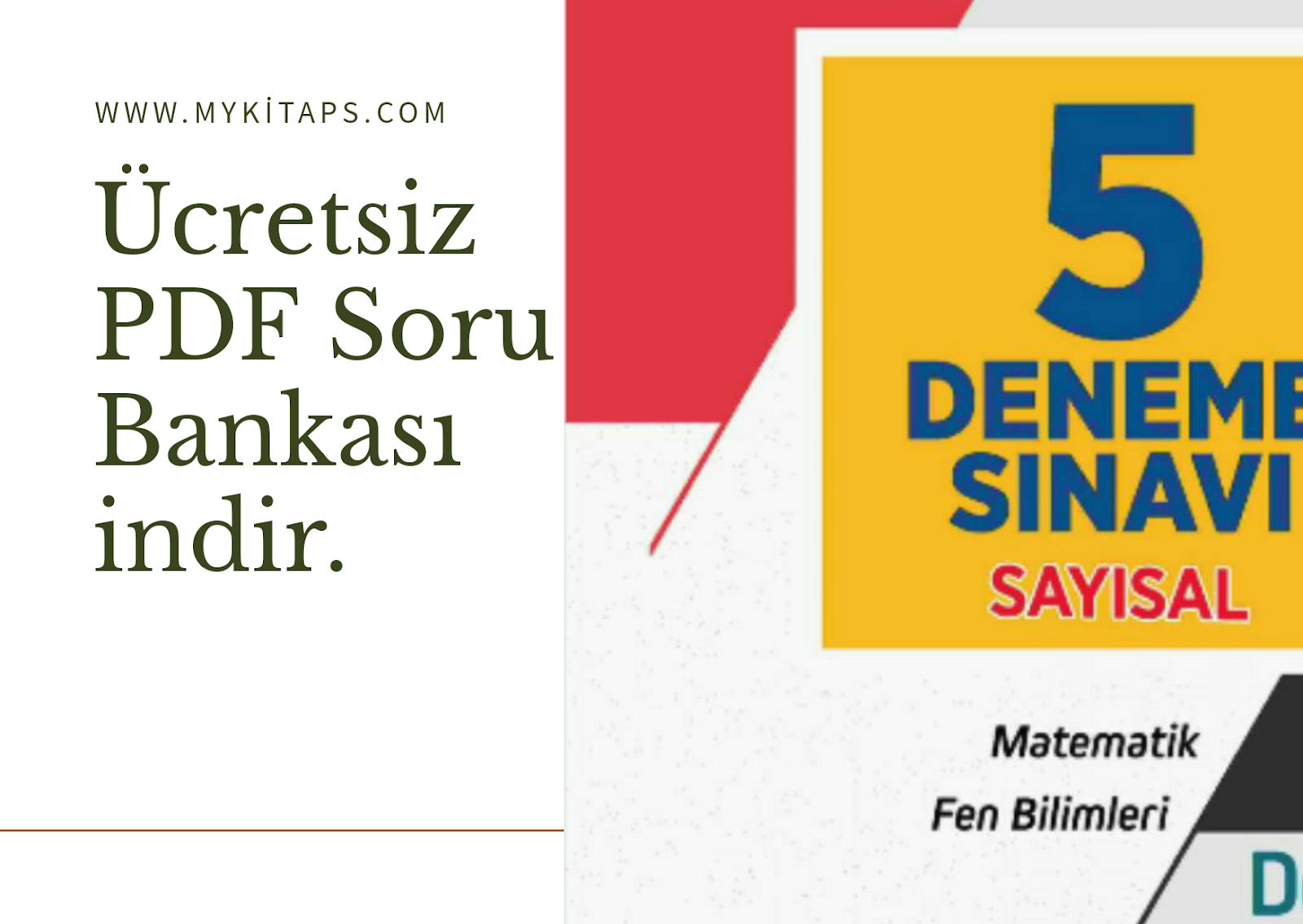 Eğitim Vadisi Yayınları AYT Sayısal 5 Adet Deneme Sınavı 2020 Evdekal.zip