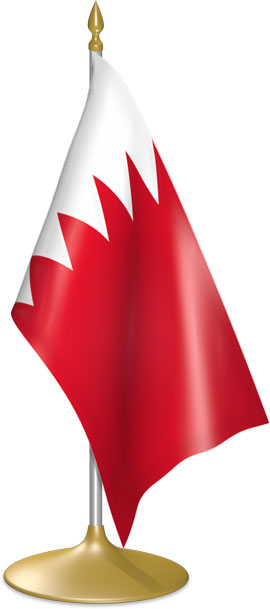 Bahraini table flags - desk flags