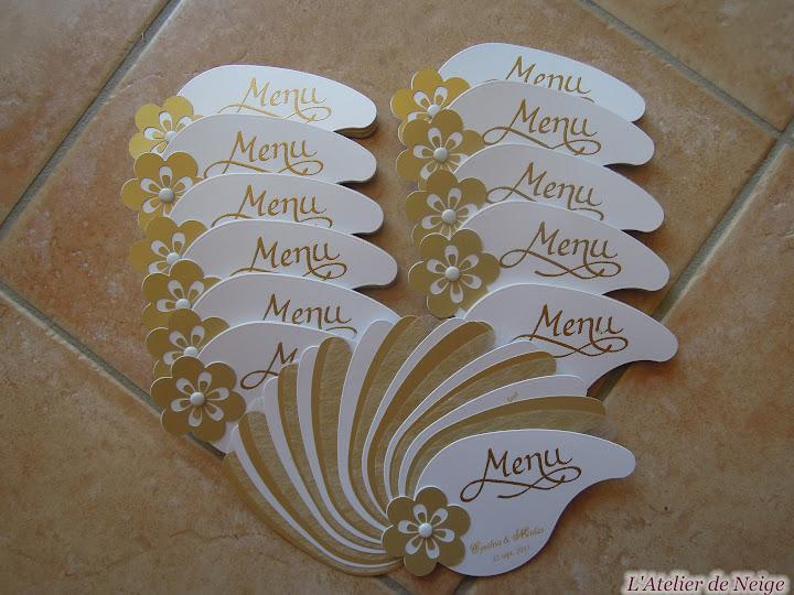 316 - Menu Mariage  Cynthia et Nicolas 12 sept. 2015