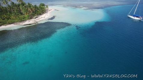 """La """"piscina"""" di Green Island ripresa dal drone - San Blas"""