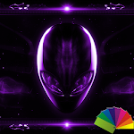 Alien Purple Xperien Theme Icon