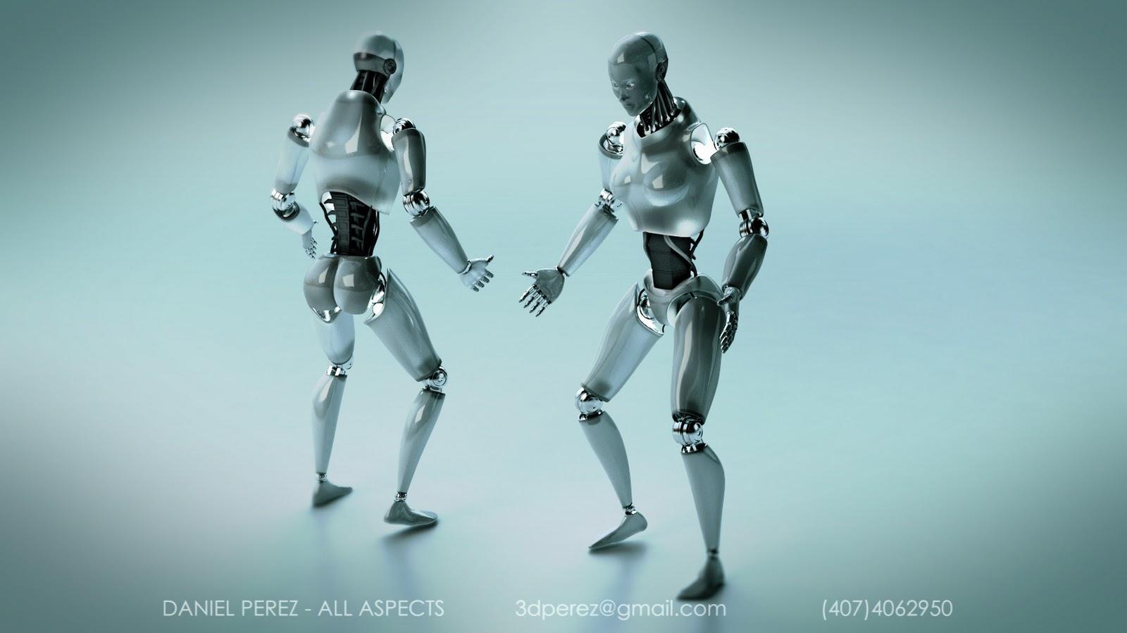 Daniel Perez 3d Artist Humanoid Robot