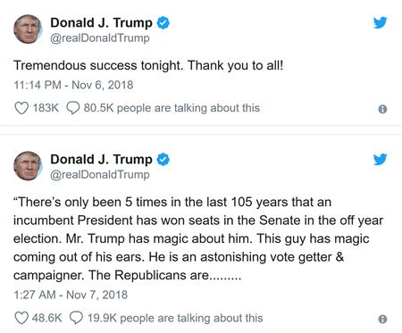 trump midterm tweets