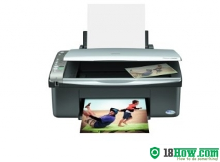 How to reset flashing lights for Epson CX4200 printer