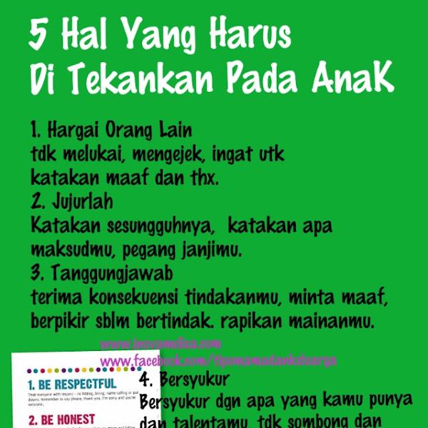 5 Hal Penting Untuk Masa Depan Anak
